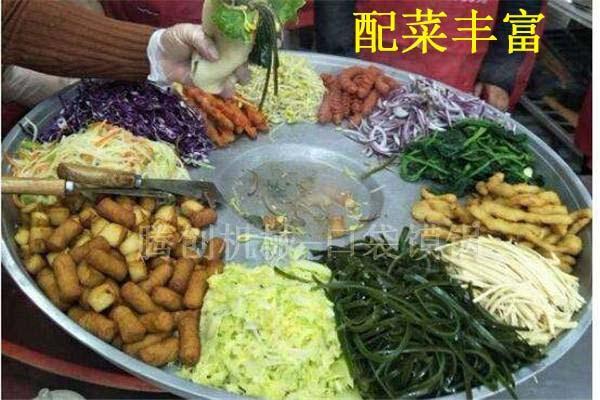 燃气口袋馍锅 布袋馍夹菜转盘锅 袋袋馍配菜锅
